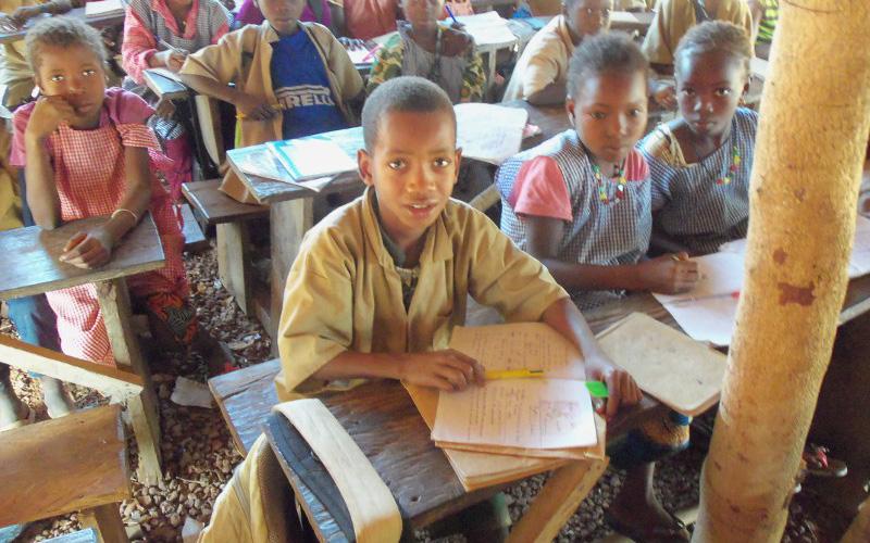 Innenansicht der alten Schule in Hamdakonkoure