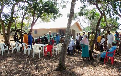 Blick auf die fertige zweite Krankenstation