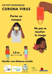 Plakat in Guinea Coronavirus - Covid-19